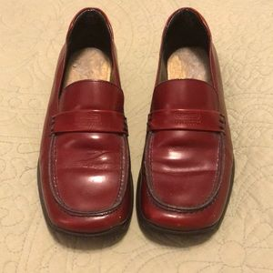 Vintage burgundy Coach loafers